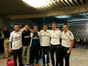 Adán e Isaack a ver la Champions a Madrid