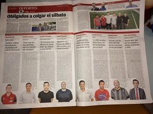 Árbitros que dicen adiós en Diario de Mallorca