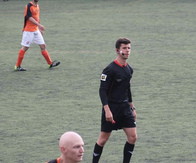 Ángel López del Amo árbitro de Preferente un joven con mucho talento.