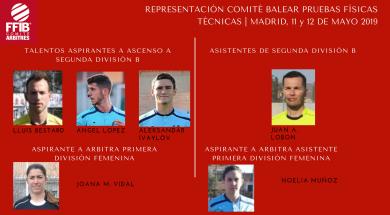 REPRESENTACIÓN COMITÉ BALEAR PRUEBAS FÍSICOS TÉCNICAS | MADRID, 11 y 12 DE MAYO 2019