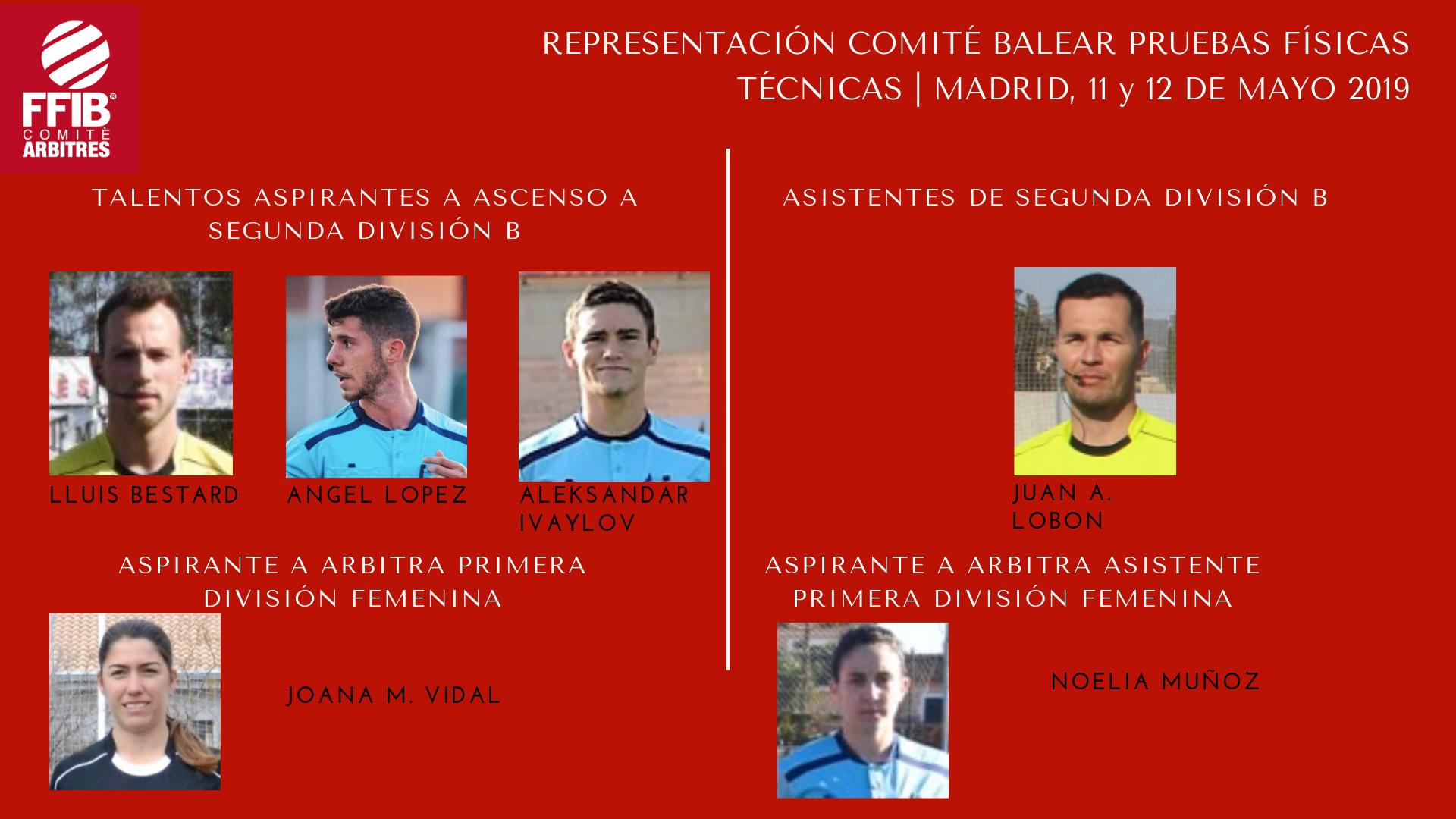 Representación Comité Balear pruebas de ascenso 2018/2019 | Madrid, 11 y 12 de Mayo