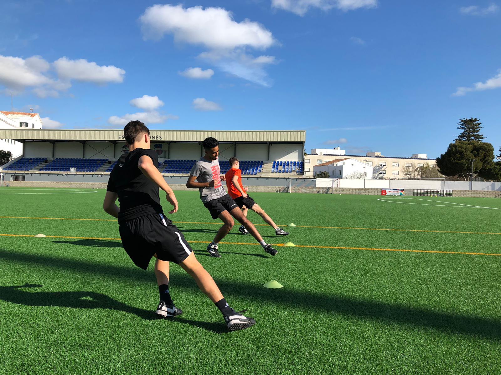 Pruebas físico-técnicas para los árbitros que optan al ascenso en Menorca.