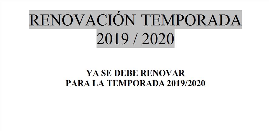 Renovación arbitral 2019 /  2020