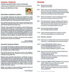 VIII Jornadas Técnicas Arbitrales programa